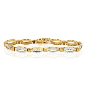 Everyday Bracelet 1.50CT Diamond 9K Yellow Gold