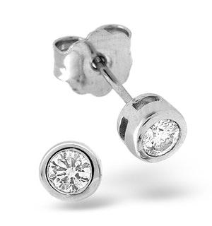 Stud Earrings 0.30CT Diamond 9K White Gold