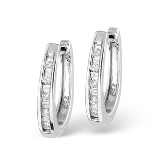 18K White Gold Diamond Earrings 0.25ct