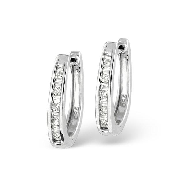 18K White Gold Diamond Earrings 0.25ct - image 1