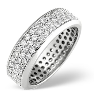 18K White Gold Brilliant Cut Diamond Eternity Ring 1.30CT