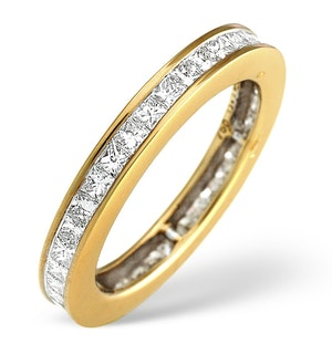 18K Gold Princess Diamond Eternity Ring 1.52CT