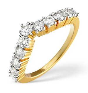 Diamond 0.70CT 18K Yellow Gold Wishbone Ring