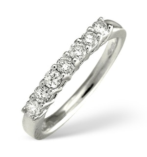Platinum 7 Stone Diamond Ring 0.43CT