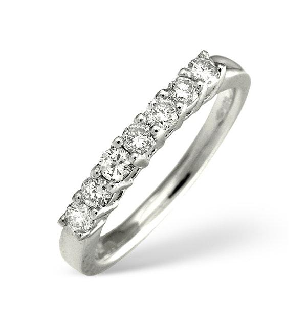 Platinum 7 Stone Diamond Ring 0.43CT - image 1