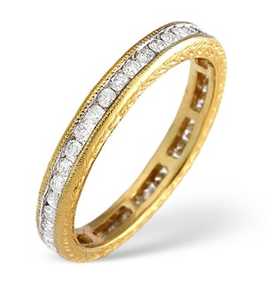 18K Gold Channel Set Brilliant Full Eternity Ring