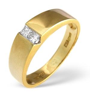 0.15ct Princess Diamond Ring in 18K Gold