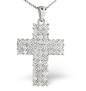 H/Si Cross Pendant 2.00CT Diamond 18KW