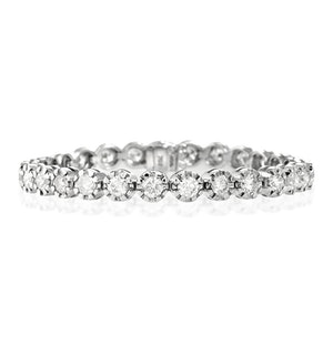 Diamond Tennis Bracelet 7.37ct 18K White Gold