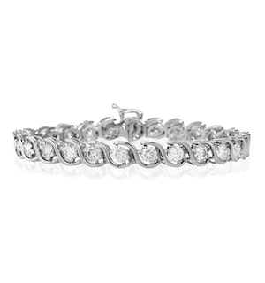 Diamond Tennis Bracelet 7.00ct 18K White Gold