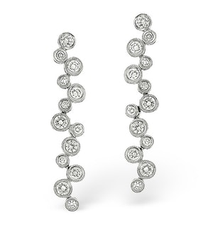 H/Si Drop Earrings 2.00CT Diamond 18KW
