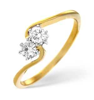 Anchor Certified 0.15 H/SI Diamond 18K Gold Ring