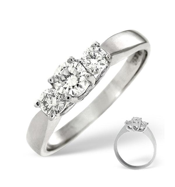 Ariella Platinum 3 Stone Diamond Ring 1.50CT G/VS - image 1