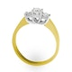 Ariella 18K Gold 3 Stone Diamond Ring 1.00CT H/SI - image 2