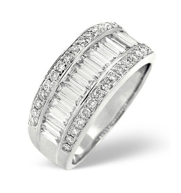 18K White Gold Diamond Ring 1.50ct H/si - image 1