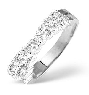 Diamond 0.50CT 18K White Gold Cross-Over Ring