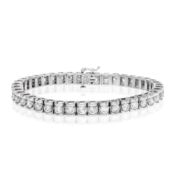 Diamond Tennis Bracelet 7.78ct 18K White Gold - image 1