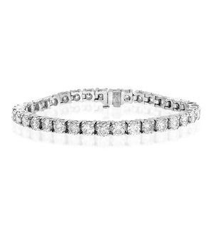 Diamond Tennis Bracelet 9.00ct 18K White Gold