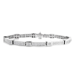 Diamond 4.25ct 18K White Gold Bracelet - RTC-J3250