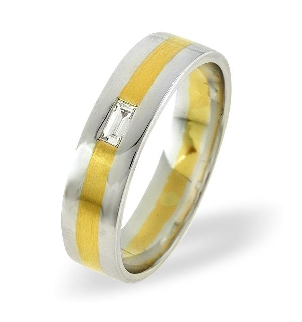 Mens 0.07ct H/Si Diamond 18K Gold Dress Ring  IYD38-9JUY - image 1