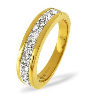 0.45ct Diamond Half Eternity Ring in 18K Gold