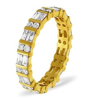 Eternity Ring Mia 18K Gold Diamond 1.00ct G/Vs