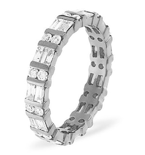 Eternity Ring Mia Platinum Diamond 1.00ct H/Si