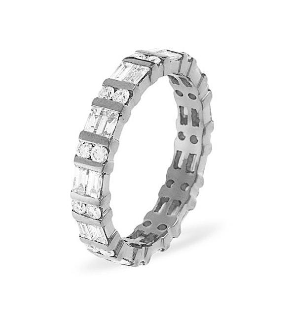 Eternity Ring Mia 18K White Gold Diamond 1.00ct H/Si - image 1