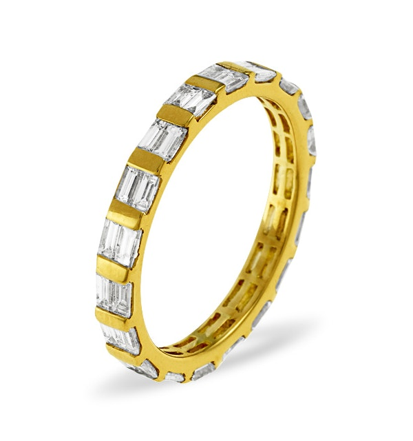 Eternity Ring Jessica 18K Gold Diamond 1.00ct H/Si - image 1
