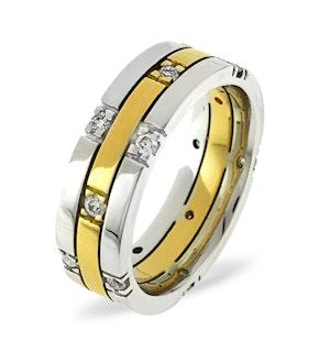 Mens 0.37ct H/Si Diamond 18K Gold Dress Ring
