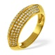 18K Gold Diamond Pave Ring 0.32ct H/si - image 1
