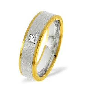 Mens 0.07ct G/Vs Diamond 18K Gold Dress Ring  IYD35-9XUY