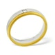 Mens 0.08ct H/Si Diamond 18K Gold Dress Ring - image 2