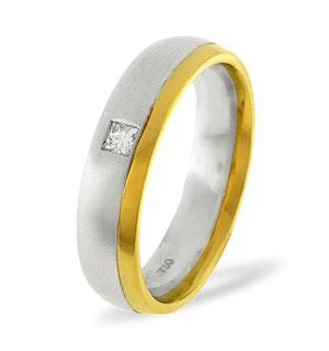 Mens 0.08ct H/Si Diamond 18K Gold Dress Ring