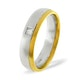 Mens 0.08ct H/Si Diamond 18K Gold Dress Ring - image 1