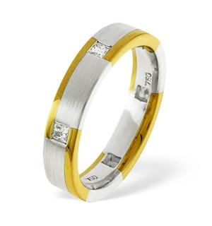 Mens 0.28ct G/Vs Diamond 18K Gold Dress Ring  IYD31-40XUY