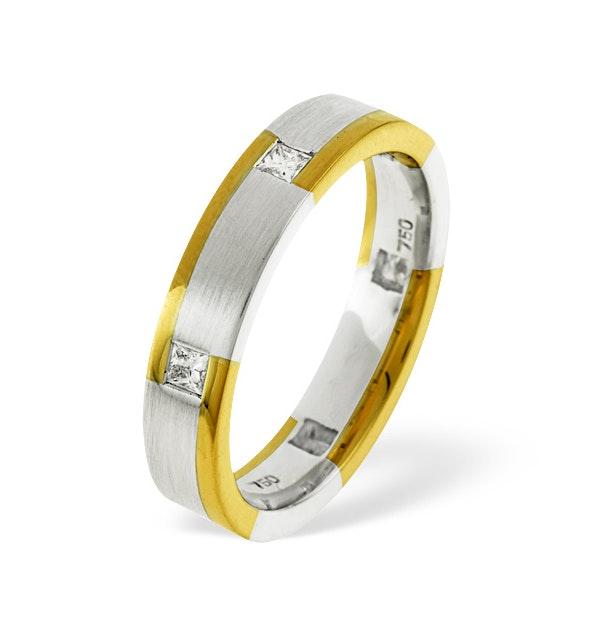 Mens 0.28ct H/Si Diamond 18K Gold Dress Ring - image 1