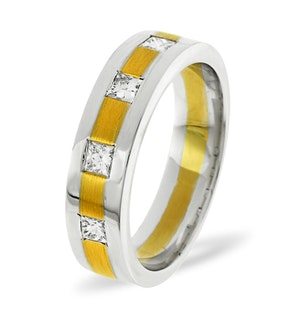Mens 0.35ct G/Vs Diamond 18K Gold Dress Ring