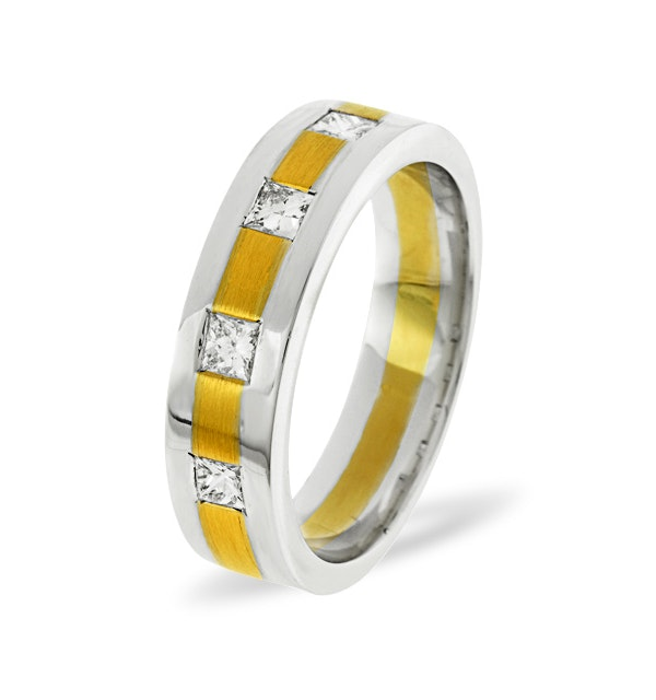 Mens 0.35ct G/Vs Diamond 18K Gold Dress Ring - image 1