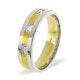 Mens 0.14ct H/Si Diamond 18K Gold Dress Ring - image 1
