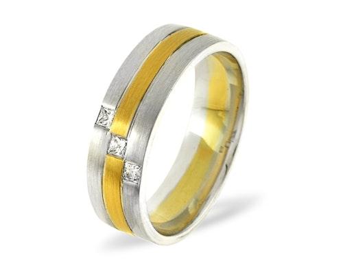 Lauren 3 Stone Wedding Rings