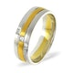 Mens 0.07ct H/Si Diamond 18K Gold Dress Ring  IYD42-9JUY - image 1