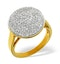 18K Gold Diamond Pave Ring 0.54ct H/si - image 2