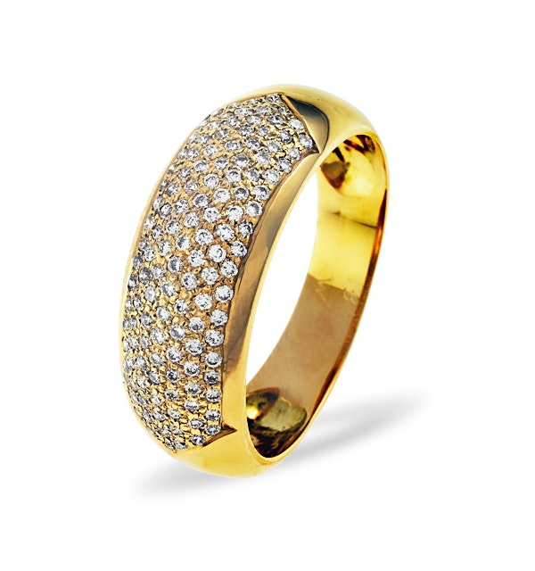 18K Gold Diamond Pave Ring 0.35ct H/si - image 1