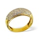 18K Gold Diamond Pave Ring 0.35ct H/si - image 3