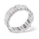 Mens 2ct H/Si Diamond 18K White Gold Full Band Ring  IHG48-422JUY - image 3