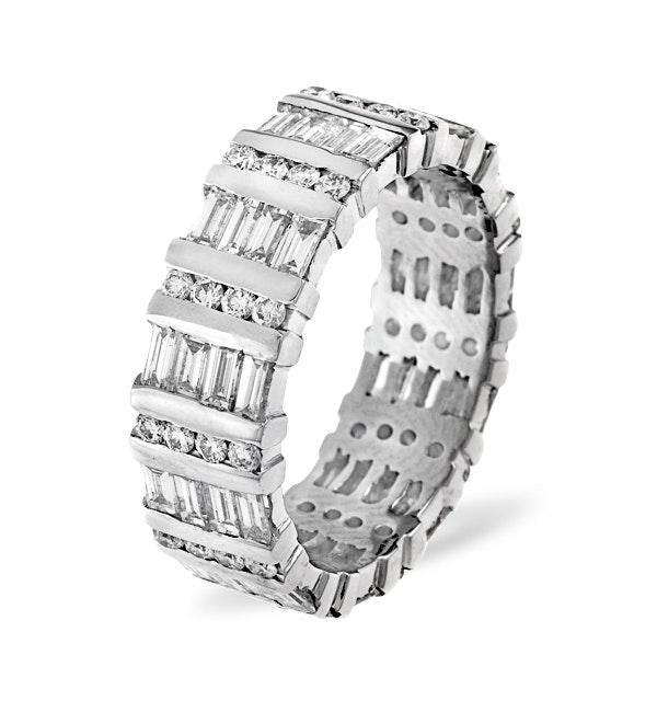 Mens 2ct H/Si Diamond 18K White Gold Full Band Ring  IHG48-422JUY - image 1