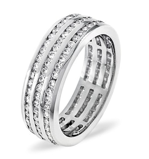 Mens 1.5ct H/Si Diamond Platinum Full Band Ring