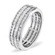 Mens 1.5ct G/Vs Diamond 18K White Gold Full Band Ring - image 1