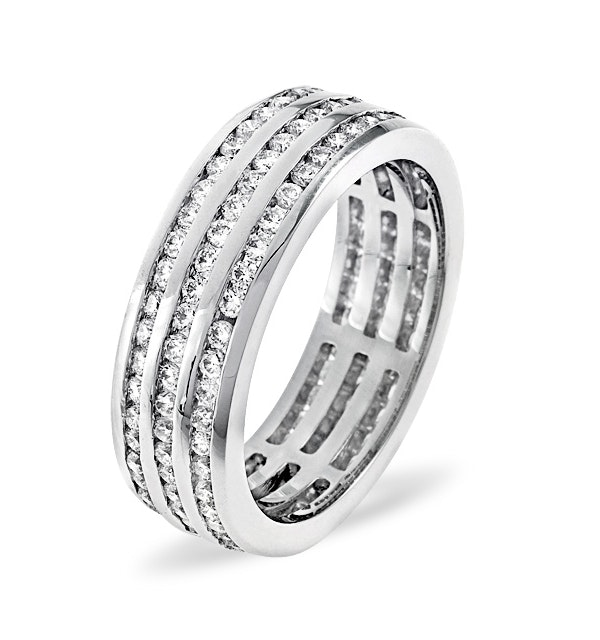 Eternity Ring Amy 18K White Gold Diamond 2.00ct H/Si - image 1